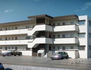 うるま市 アパートのパース